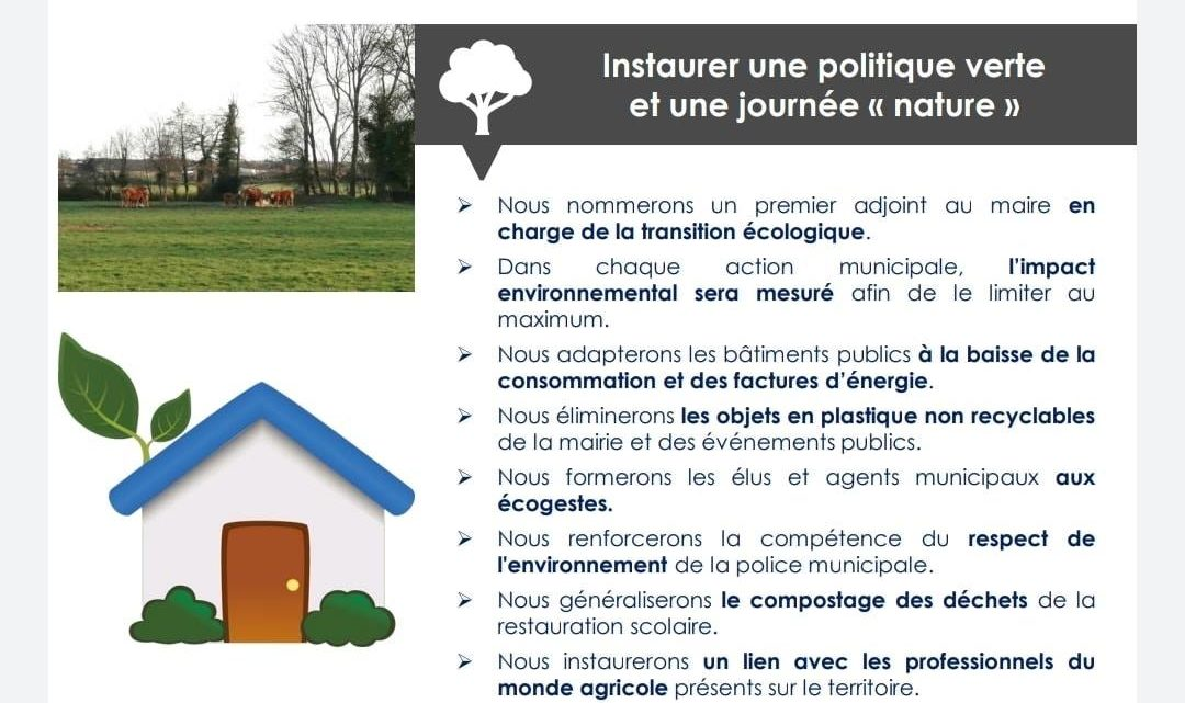 Une préservation de notre environnement!