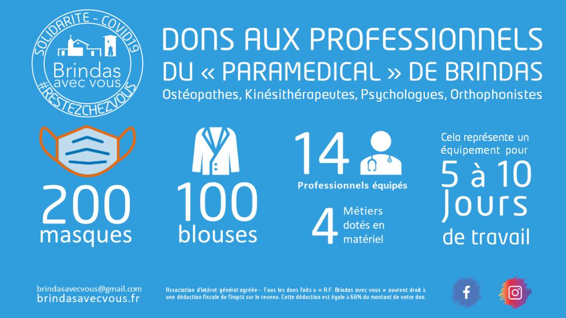 Distribution de masques et de blouses aux personnels «paramédical»